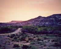 Puesta del sol sobre mesa del desierto, Utah Foto de archivo libre de regalías