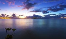 Puesta del sol sobre Samoa Fotografía de archivo libre de regalías