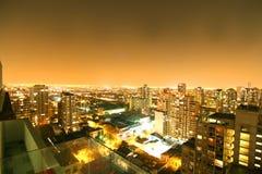 Puesta del sol sobre Sao Paulo Imágenes de archivo libres de regalías