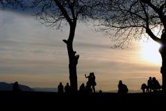 Puesta del sol sobre Sarajevo Fotografía de archivo libre de regalías