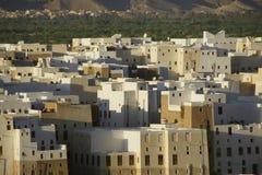 Puesta del sol sobre Shibam, Yemen Fotografía de archivo libre de regalías