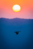 Puesta del sol sobre Thanda Foto de archivo