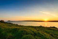 Puesta del sol sobre Victor Harbor Foto de archivo libre de regalías