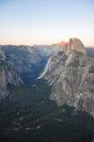 Puesta del sol sobre Yosemite Imagen de archivo libre de regalías
