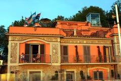 Puesta del sol Sorrento Italia del prestigio del hotel imagen de archivo libre de regalías