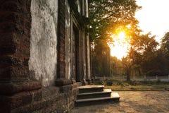 Puesta del sol, St Catherine Chapel Imagenes de archivo
