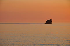 Puesta del sol, St Inés, Cornualles Imagenes de archivo