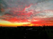 Puesta del sol Stuttgart Fotografía de archivo