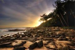 Puesta del sol suave de Phuket Imagen de archivo libre de regalías