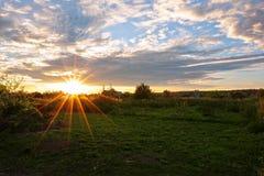 Puesta del sol Sun Imagen de archivo