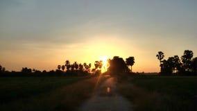 Puesta del sol tailandesa Fotografía de archivo