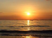 Puesta del sol tailandesa Foto de archivo libre de regalías
