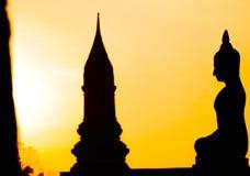 Puesta del sol Tailandia de Buda Imagen de archivo libre de regalías