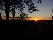 puesta del sol, tarde, el sol, cielo foto de archivo