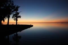 Puesta del sol Tarpon Springs (FL) Fotografía de archivo libre de regalías