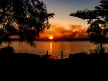 Puesta del sol Taylors Fotos de archivo libres de regalías