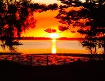 Puesta del sol Taylors Imagen de archivo