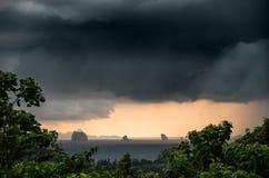 Puesta del sol tempestuosa Foto de archivo libre de regalías