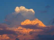 Puesta del sol tempestuosa Foto de archivo