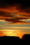 Puesta del sol tempestuosa del ocaso imagen de archivo libre de regalías