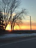 Puesta del sol temprana Fotos de archivo libres de regalías