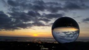 Puesta del sol Tenerife Foto de archivo libre de regalías