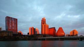 Puesta del sol Timelapse de Austin, horizonte 4K de Tejas metrajes