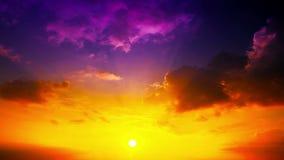 Puesta del sol - timelapse. 4K. HD LLENO, 4096x2304.