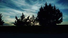 Puesta del sol todo oscura Foto de archivo