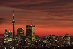 Puesta del sol Toronto Foto de archivo libre de regalías