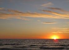 Puesta del sol, Torrance Beach, Los Ángeles, California Fotografía de archivo libre de regalías