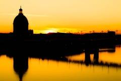 Puesta del sol Toulouse Fotografía de archivo libre de regalías
