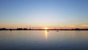 Puesta del sol tranquila Foto de archivo libre de regalías