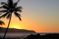 Puesta del sol tropical Imagenes de archivo