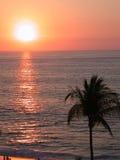 Puesta del sol tropical de la playa Fotografía de archivo libre de regalías