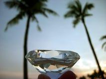 Puesta del sol tropical y diamante Imagen de archivo libre de regalías