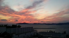 Puesta del sol turca Foto de archivo