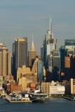 Puesta del sol urbana de la ciudad Foto de archivo libre de regalías
