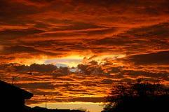 Puesta del sol urbana en Las Vegas Foto de archivo libre de regalías