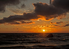 Puesta del sol V Foto de archivo libre de regalías