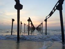 Puesta del sol @ Venecia Foto de archivo