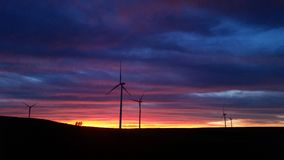 Puesta del sol ventosa Imagen de archivo libre de regalías