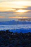 Puesta del sol Ventura Pier Imágenes de archivo libres de regalías