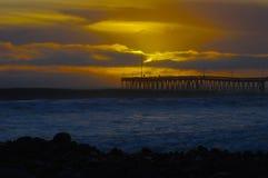 Puesta del sol Ventura Pier Fotografía de archivo libre de regalías