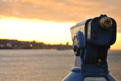 Puesta del sol Viña Del Mar Imagen de archivo