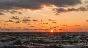 Puesta del sol VI foto de archivo libre de regalías