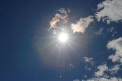 Puesta del sol y cielo Fotografía de archivo libre de regalías