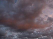 Puesta del sol y nubes Imagen de archivo libre de regalías