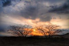 Puesta del sol y nubes en Japón Fotografía de archivo