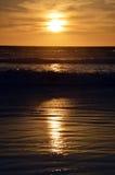 Puesta del sol y océano Fotografía de archivo libre de regalías